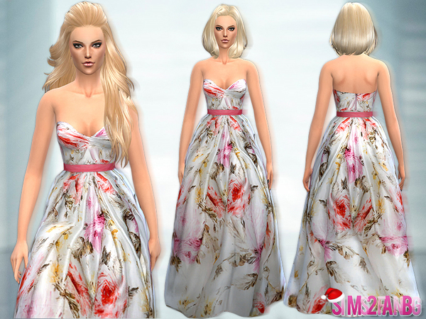 25 - Long Colorful Dress by sims2fanbg