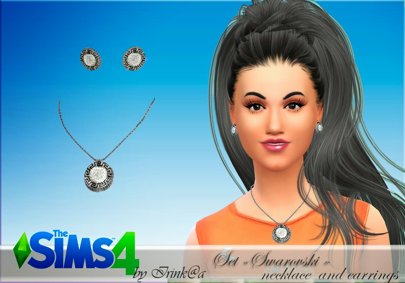 Earrings and Necklace by Irink@a