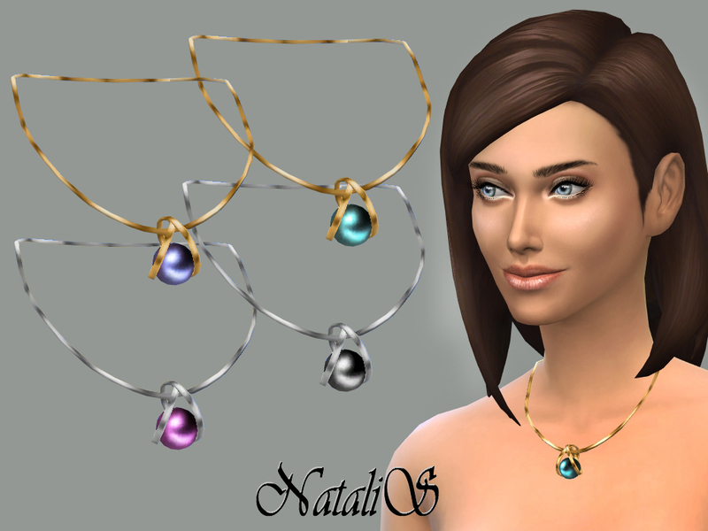 NataliS_Necklace pearl pendant FT-FE