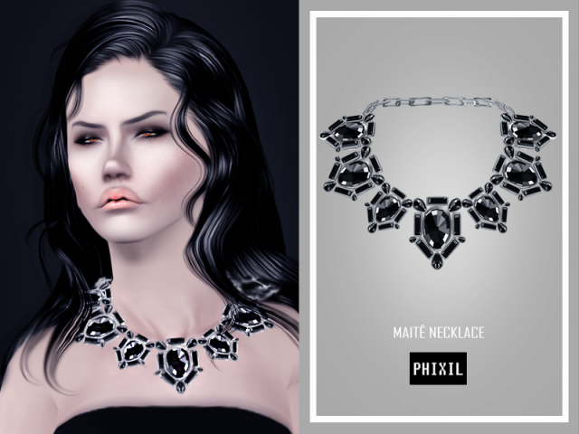 Maite Necklace by Phixil