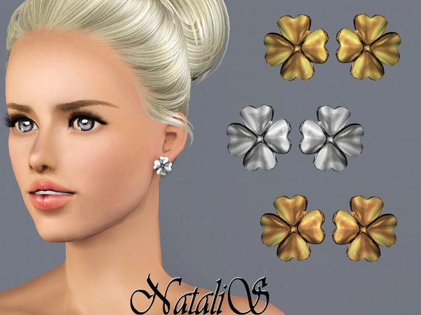 NataliS TS3 Good luck stud earrings YA-FA
