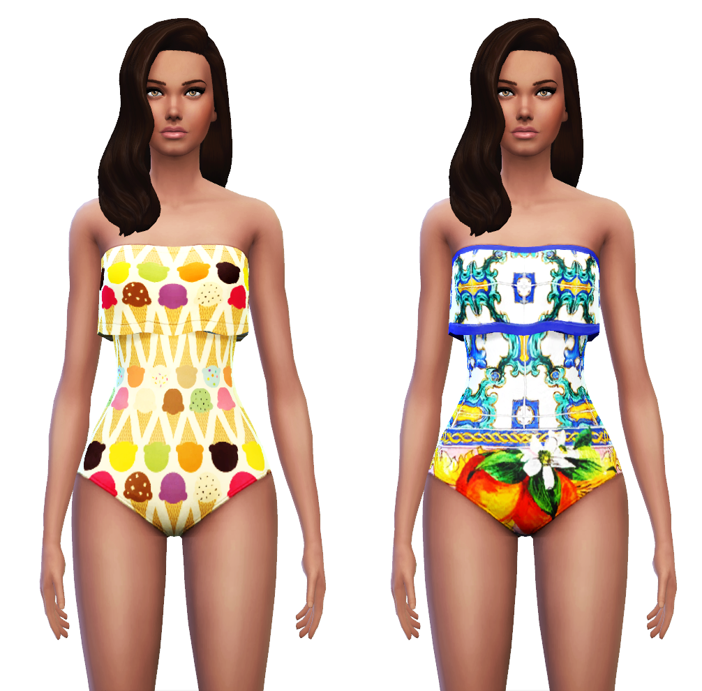 One Piece Swimwear for Females by Sim4ny
