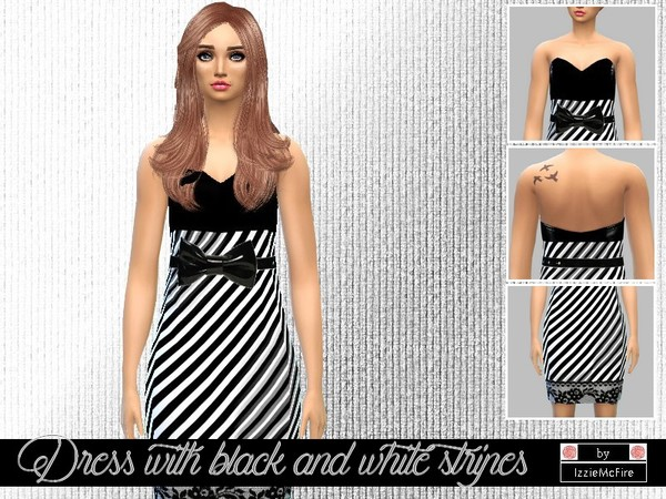Dress with black and white stripes by IzzieMcFire