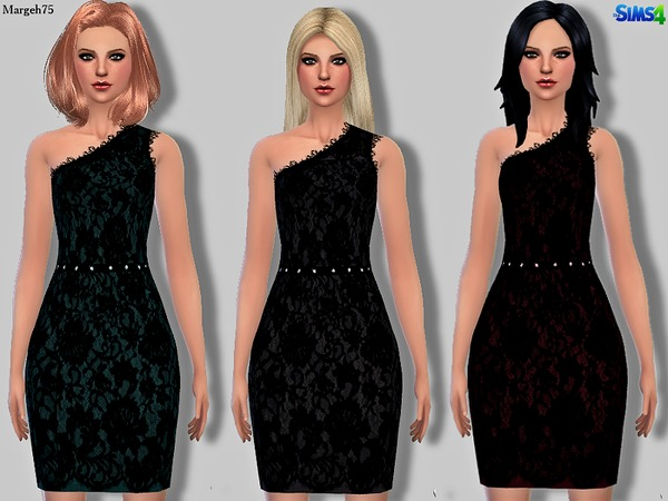Sims 4 Precious Lace Dress by Margeh-75