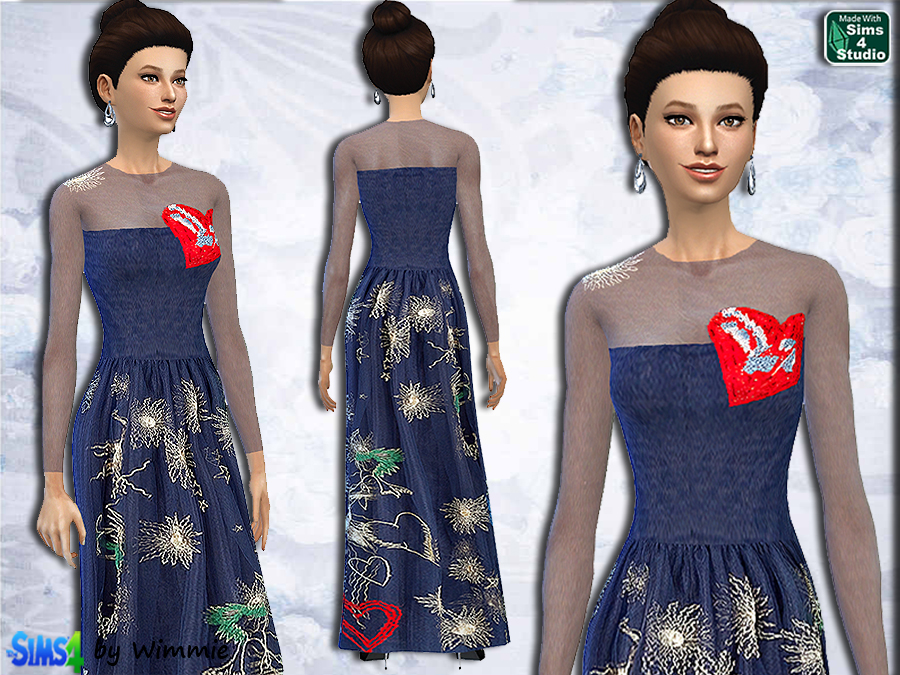 Embroidered Evening Gown at Just For Your Sims