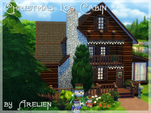 Christmas Log Cabin by Arelien