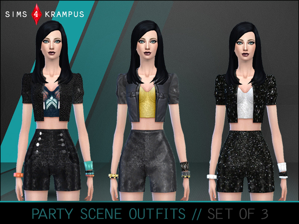 Party Scene Outfits by SIms4Krampus