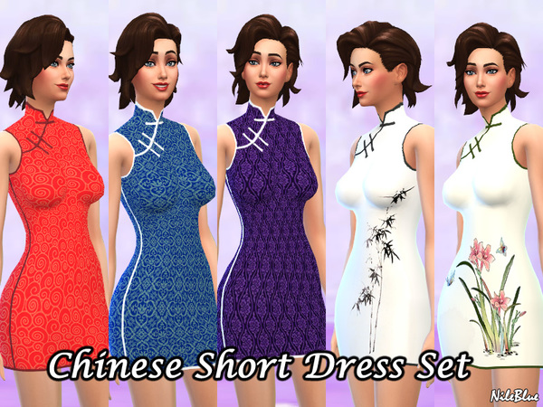 Chinese Style Short Dress Set by Nile_Nile