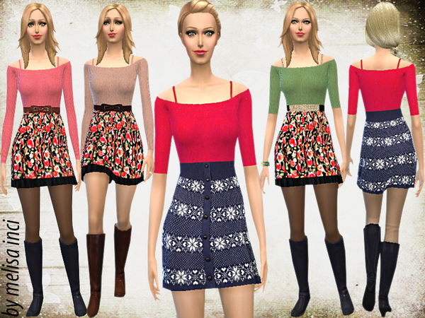 Belted Knitted Outfits by melisa inci
