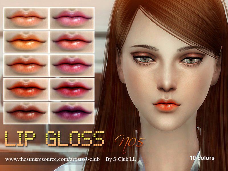 S-Club LL thesims4 Lipstick F05