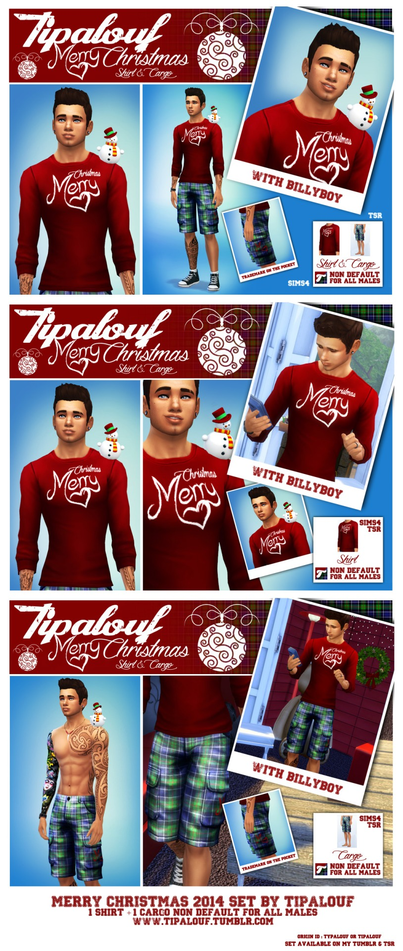Christmas Clothing for Males by Tipalouf