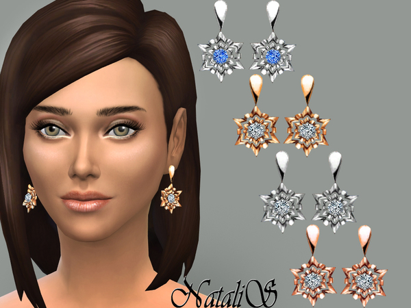 NataliS_Shining snowflake earrings FT-FE