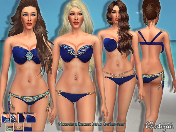 Set17- Victoria's Secret 2013 Swimwear Set by Cleotopia