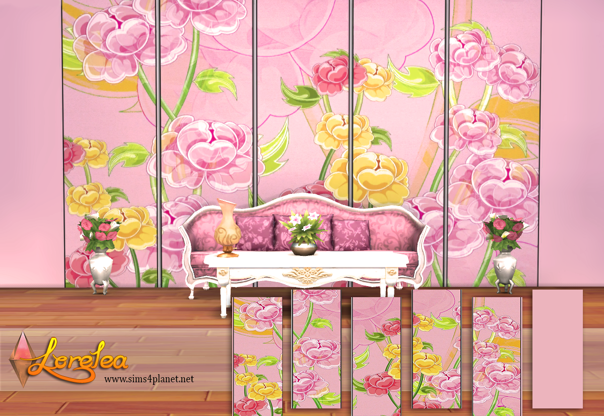 Pink floral wallpapers by lorelea