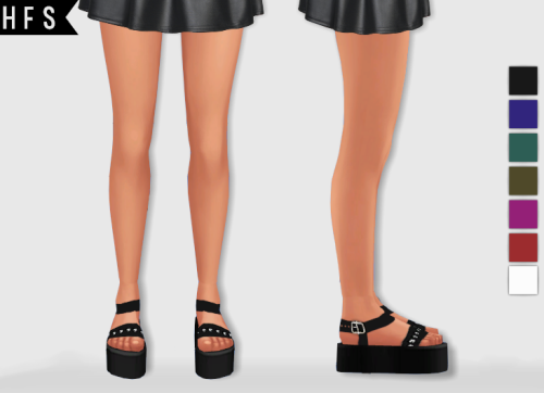Platform Sandals by Hautfashionsims4