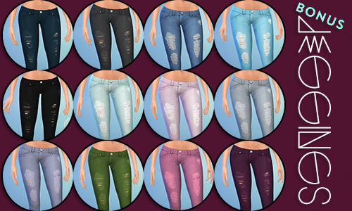 Accessory Jeans for Females by PixelJewel