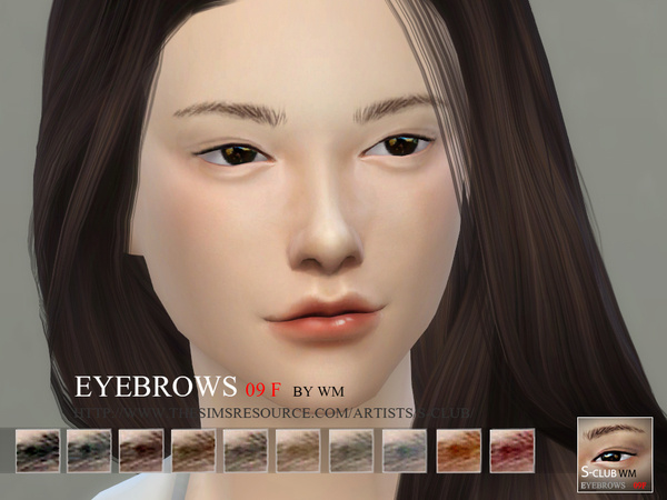 S-Club WM thesims4 Eyebrows 09 F