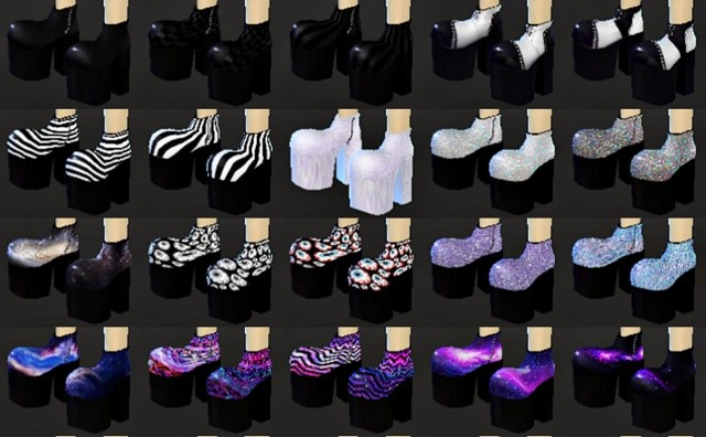 Goth Platform Shoes by DecayClownSims