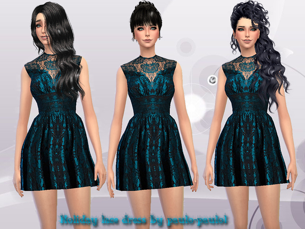 Holiday lace dress by paulo-paulol