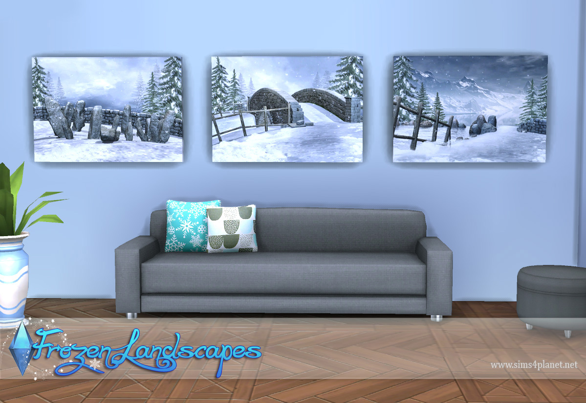 Frozen Landscapes Paintings by Lorelea