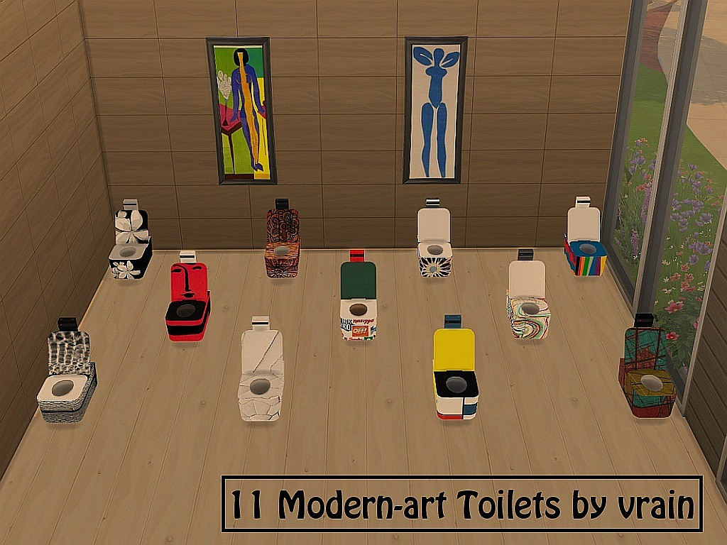 11 Modern-art toilets (non-default replacement) by Vrain
