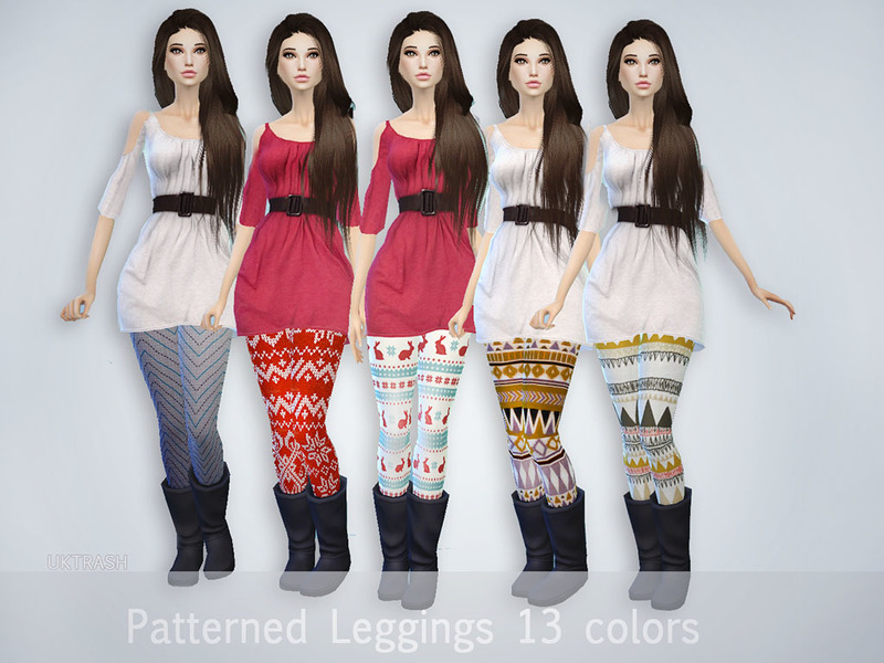 Pattern Leggings BY UKTRASH