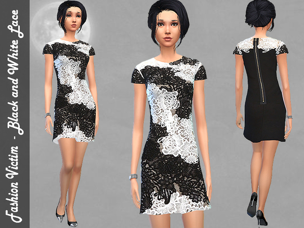 Black and White Lace Dress by Fashion Victim
