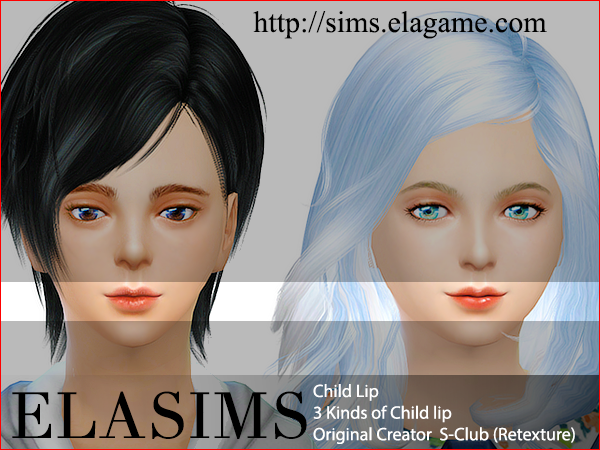 3 lips for kids at ElaSims