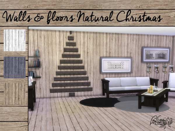 Walls & Floors Natural Christmas by LoliamSims