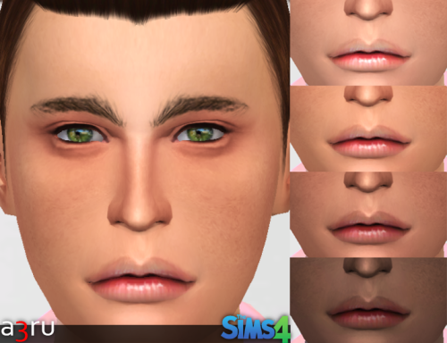 Realistic set of lips RJ077 for YAM & YAF at A3RU
