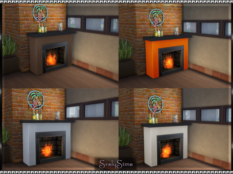 Heatseeker Fireplace Recolors by Srslysims