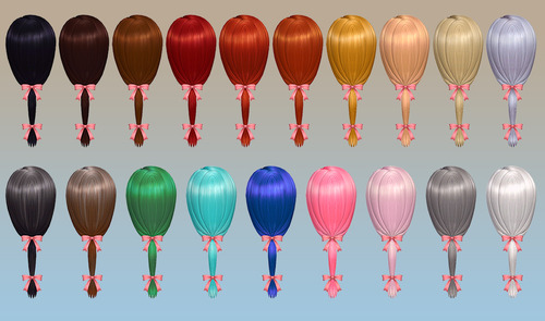 Charm Hair for Males & Females by NotEgain