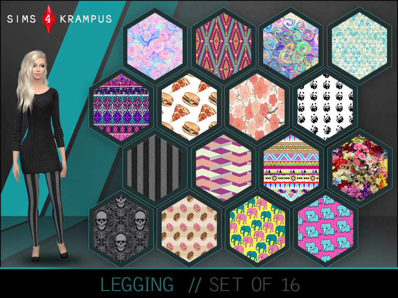 Set of 16 Leggings  BY SIms4Krampus