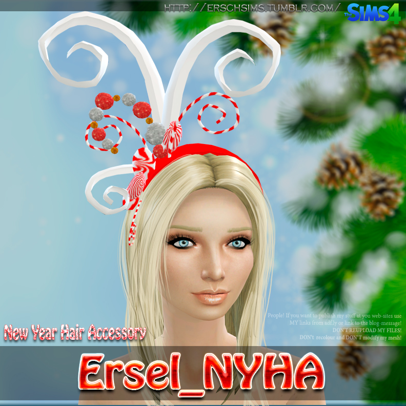 New Year hair accessory by Ersel