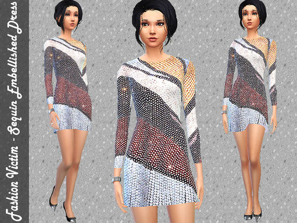 Sequin Embellished Dress by Fashion Victim