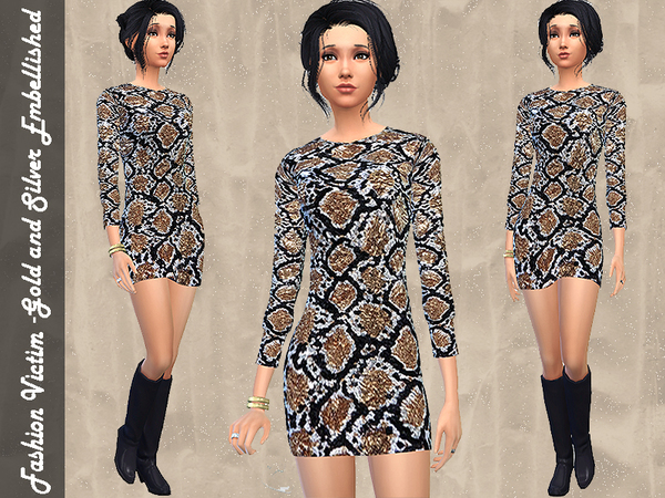 Gold and Silver Mini Dress by Fashion Victim