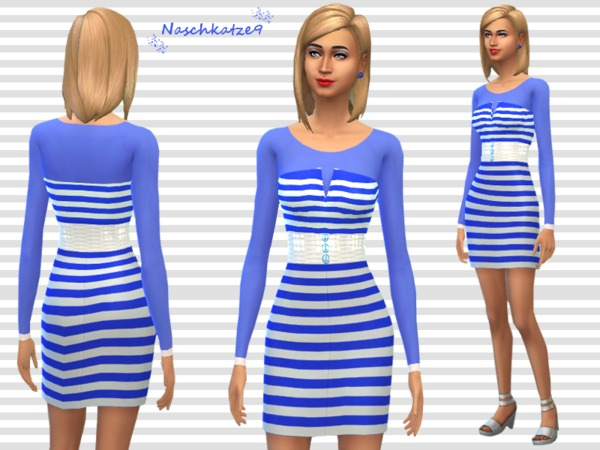 Navy Blue Stripes by naschkatze9
