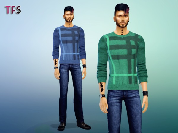 Simple Striped Sweaters by TwistedFate Sims