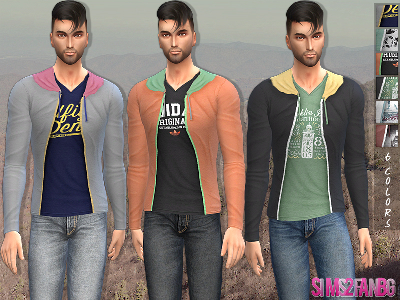 32 - Male sweatshirt BY sims2fanbg