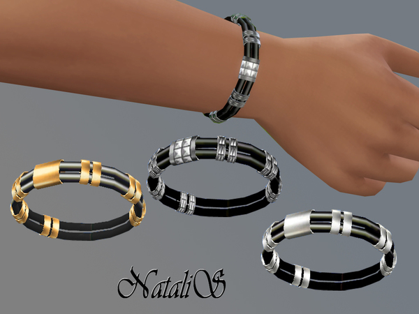 NataliS_Rubber and metal bracelet MT-MA
