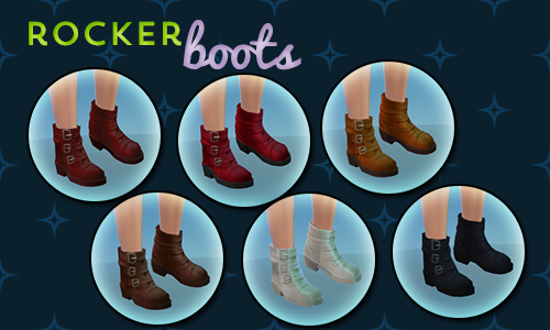 Rocker boots at Pixel Jewel