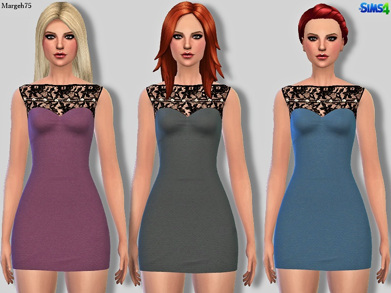 Sims 4 Sandro Pearl & Lace BY Margeh-75