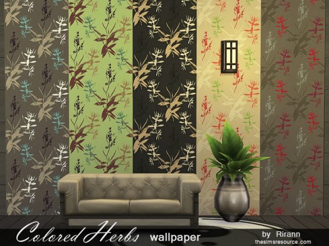 Colored Herbs Wallpaper by Rirann