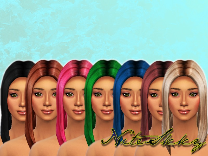 Long Straight Hair Retextured  BY NiteSkky