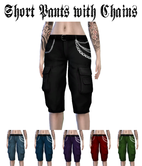 Shorts Pants with Chains for by LadyHayny