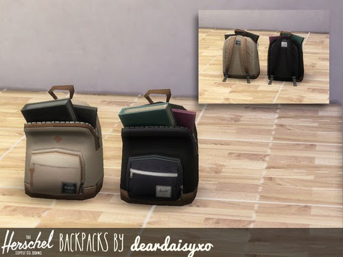 Backpack Recolors by DearDaisySims