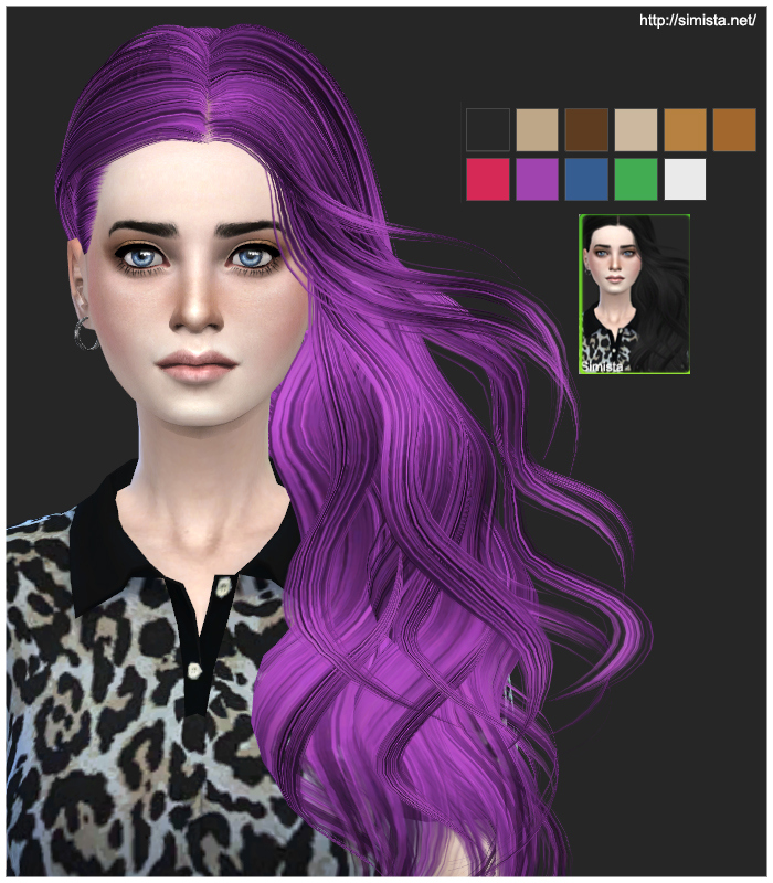 Skysims 252 Hair Retexture by Simista