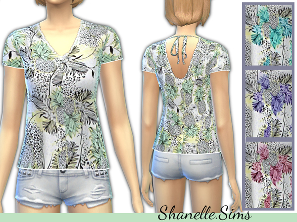 Pineapple Print Tee by shanelle.sims