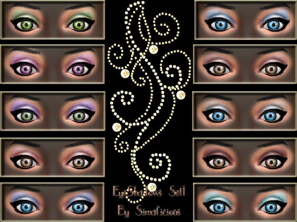 EyeShadows Set 1 by Simalicious_