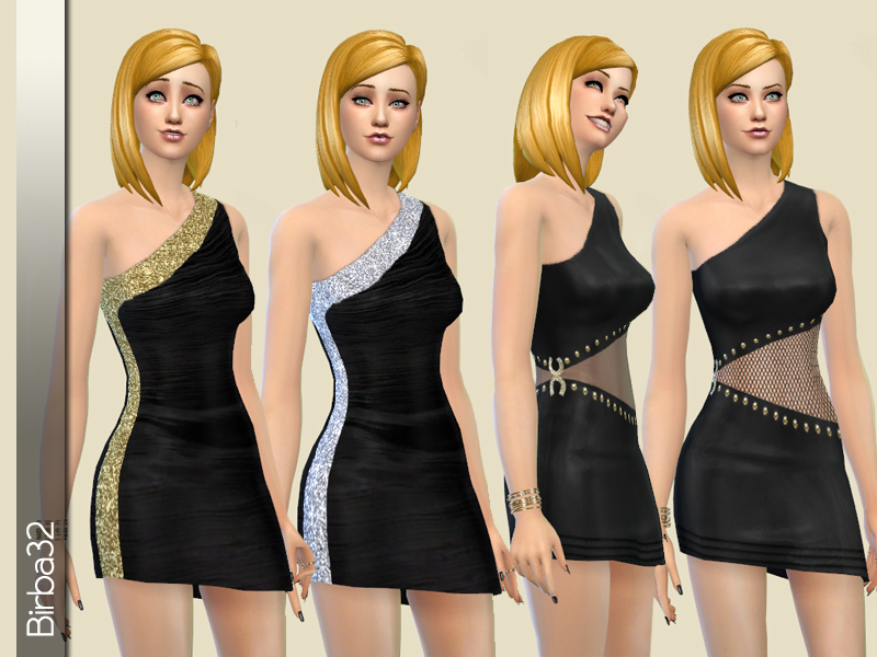 Asymmetric black dress BY Birba32